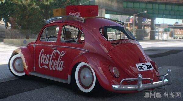 侠盗猎车手4复古可口可乐外观大众甲壳虫车MOD截图0