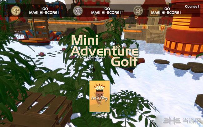 迷你冒险高尔夫球截图0