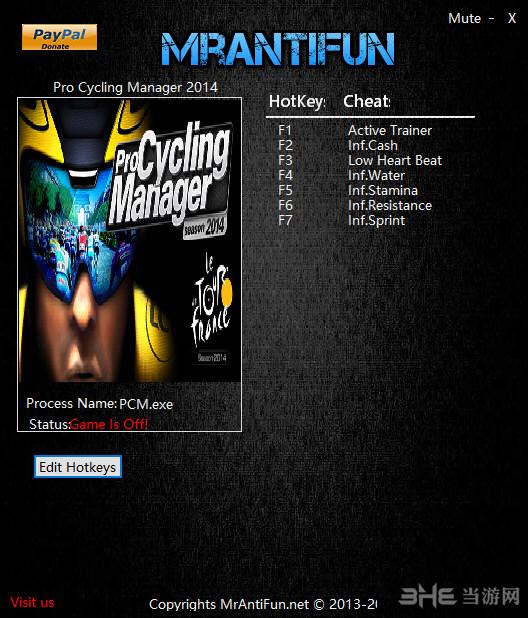 职业自行车队经理2014六项修改器截图0