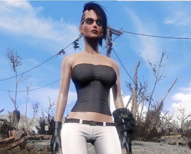 辐射4摩托女郎服装MOD截图0