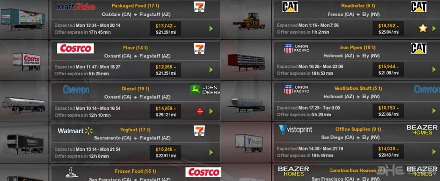 美国卡车模拟真实的公司和拖车MOD截图0