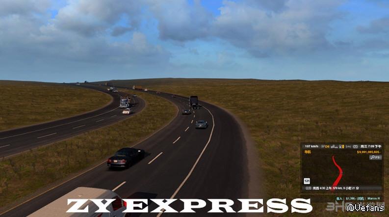 美国卡车模拟增加AI交通流量MOD截图0