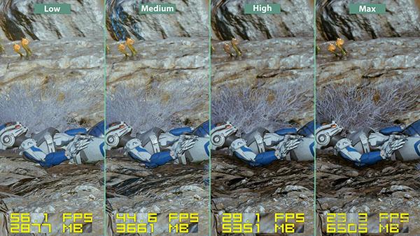 质量效应仙女座各等级画面帧数对比3