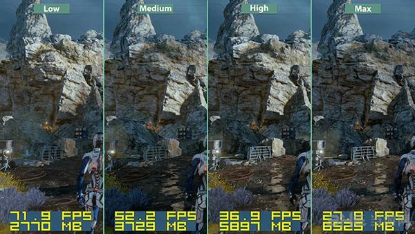 质量效应仙女座各等级画面帧数对比8