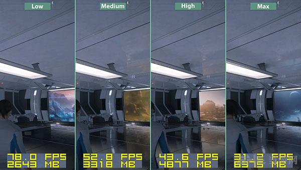 质量效应仙女座各等级画面帧数对比12