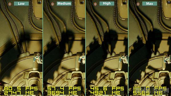 质量效应仙女座各等级画面帧数对比9