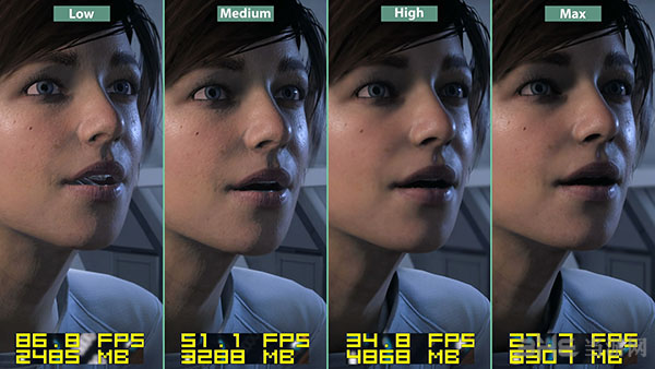 质量效应仙女座各等级画面帧数对比11