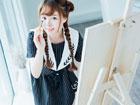 清纯美女柳侑绮画室写真 学生装卖萌可爱引人垂涎
