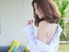 美女衬衫性感写真 白皙长腿引人诱惑
