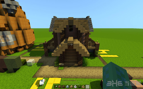 我的世界简易森林小屋建造过程截图1