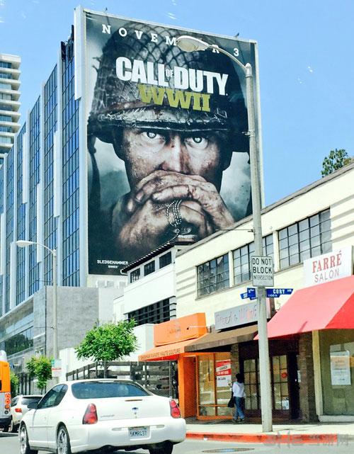 加利福尼亚大楼上使命召唤14二战宣传图