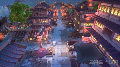 幻想三国志5洛阳夜景