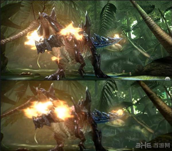 怪物猎人XXNS版与3DS版画面对比2