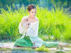 完美女神的汉服清新写真 江南女子柔情似水美如画