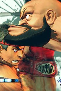 《街头霸王4》游戏截图 一招气功吃遍天下