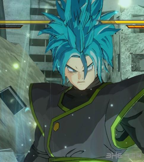龙珠:超发型2赛亚男新发型超蓝短发MODv1.07风学院宇宙发型男图片