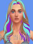 模拟人生4彩色中分及肩女发MOD截图0