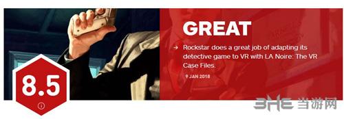 黑色洛城VR IGN评分
