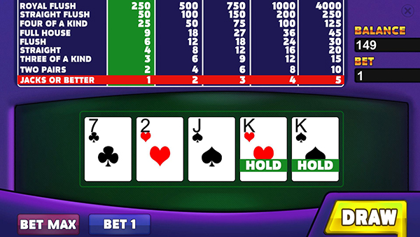 皇家俱乐部:视频扑克截图2