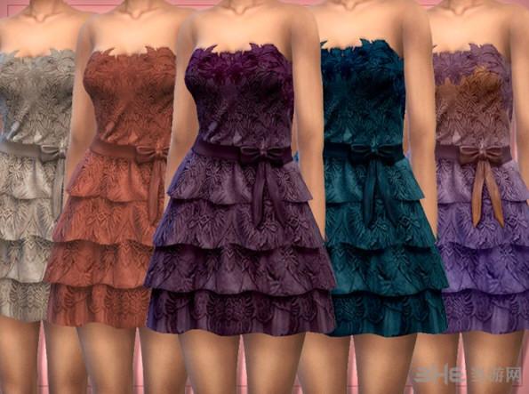 模拟人生4Lounacutex女士甜美可爱系蕾丝小塔裙MOD截图1