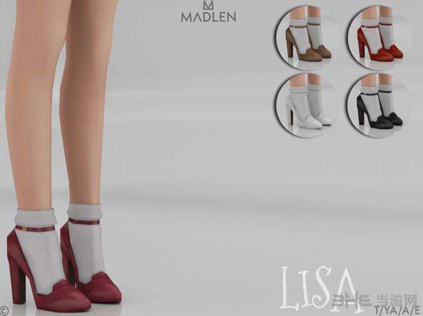模拟人生4v1.31Lisa女士经典复古小圆头高跟皮鞋MOD截图0