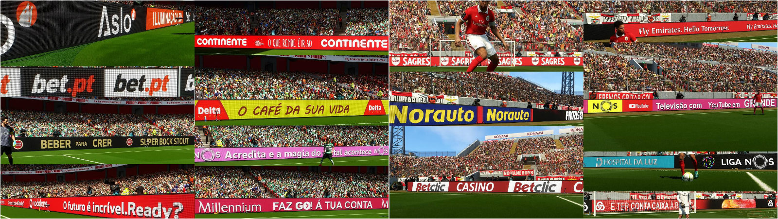 实况足球2018本菲卡和葡萄牙球队广告牌补丁截图0