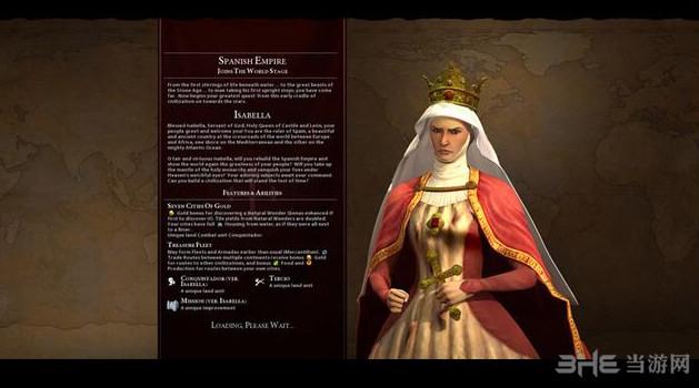 文明6v1.0.0.194五代领袖西班牙伊莎贝拉MOD截图1