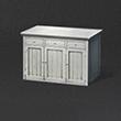 白色矮木柜