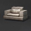 白色皮制沙发