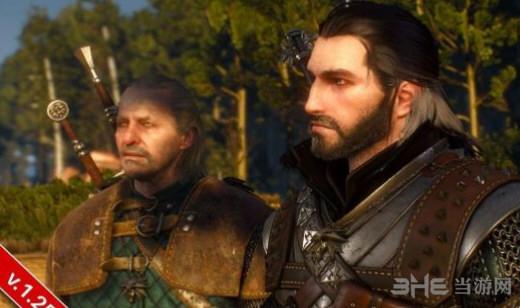 巫师3狂猎黑头发黑胡子杰洛特MOD截图0