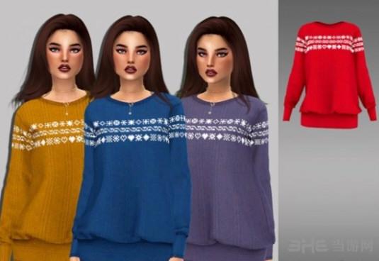 模拟人生4冬季长款女士毛衣MOD截图0