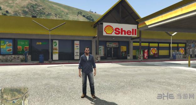 侠盗猎车手5位于Rest地区的Shell加油站和地铁MOD截图0