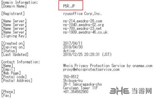 P5R域名图片