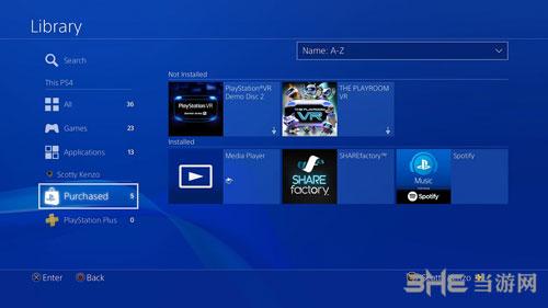 PS4系统界面图