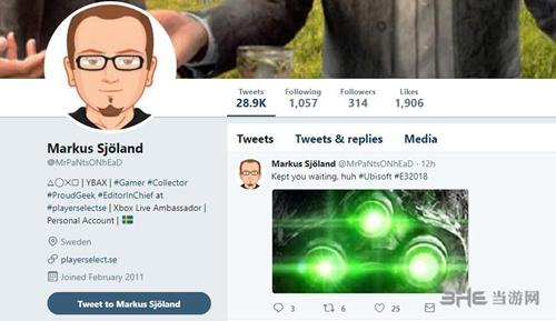 瑞典Xbox Live大使Markus Sjöland推特图片