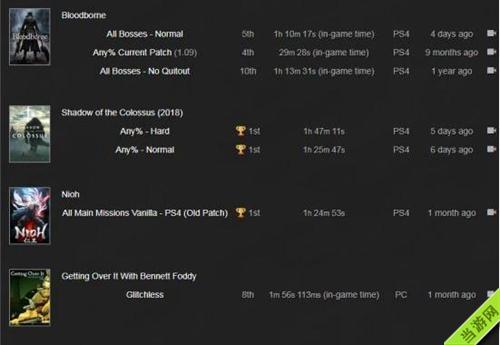 高玩创下的各种游戏记录