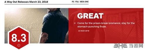 逃出生天IGN评分