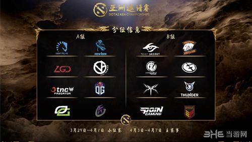 DOTA2亚洲邀请赛分组