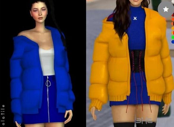 模拟人生4羽绒服女装mod截图0