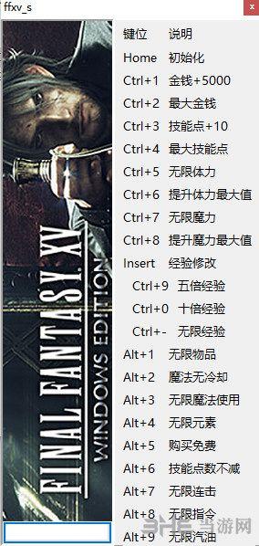 最终幻想15二十项修改器peizhaochen版截图0