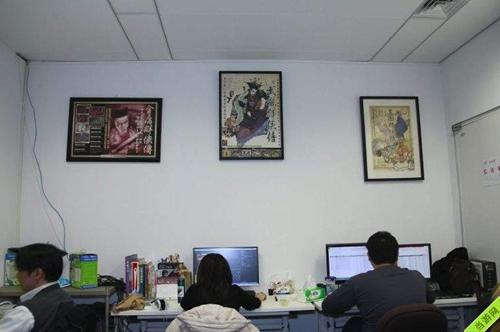 河洛工作室壁挂的河洛三部曲