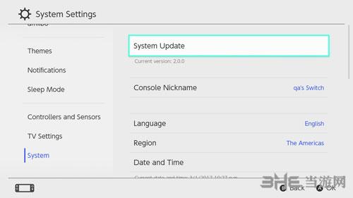 Switch游戏机最新版固件
