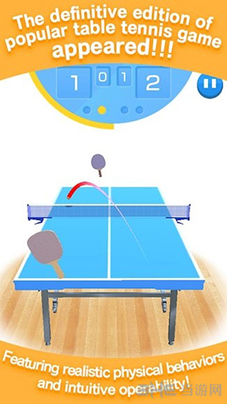 乒乓球3D虚拟世界截图3
