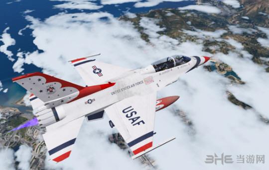 侠盗猎车手5 F-16D战斗机 MOD截图1