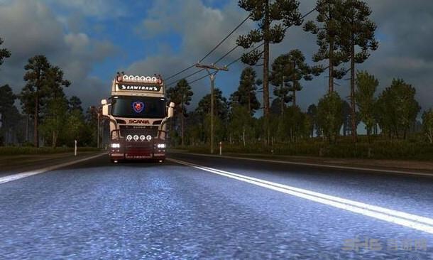 欧洲卡车模拟2 v1.28氙气大灯MOD截图0