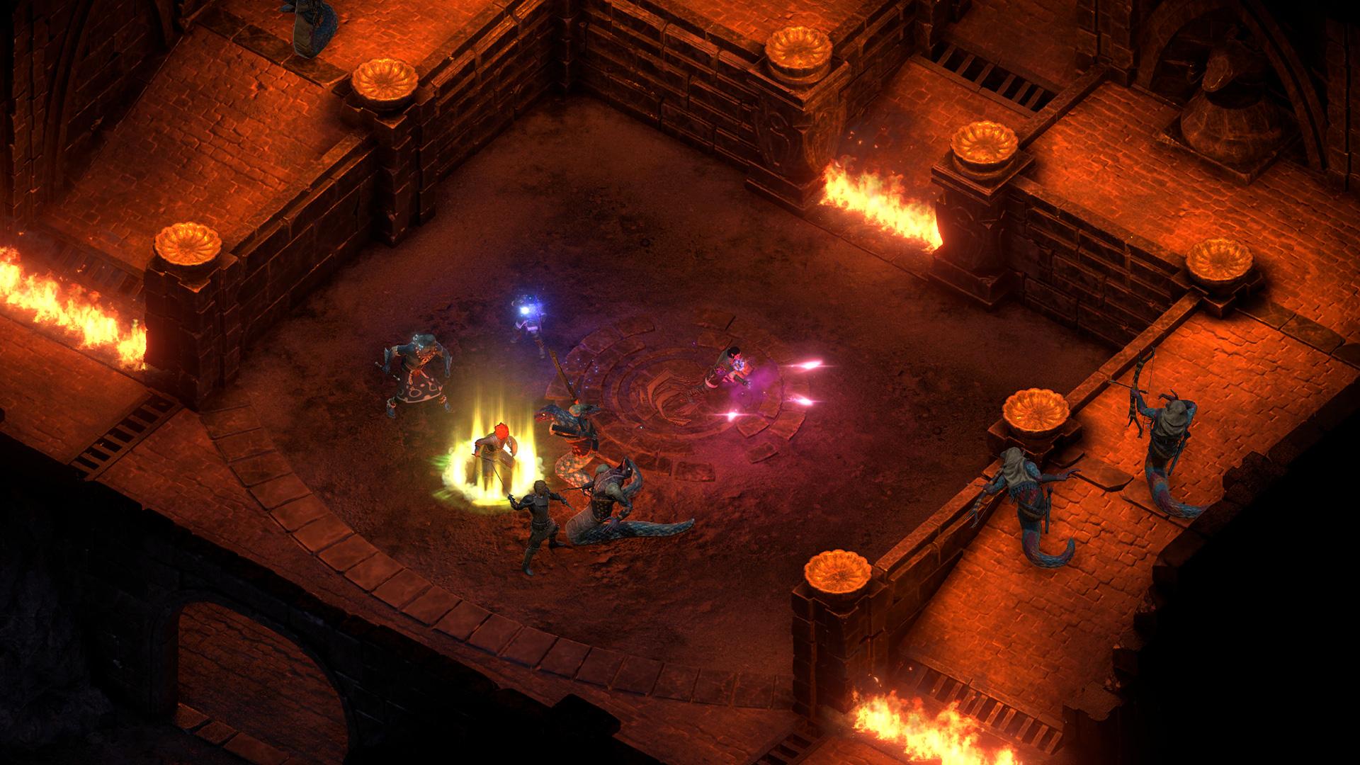 永恒之柱2死亡之火高清游戏截图 与神战斗