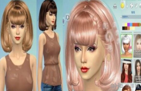 模拟人生4女性甜美公主头发MOD截图1