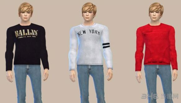 模拟人生4男士休闲风上衣MOD截图1