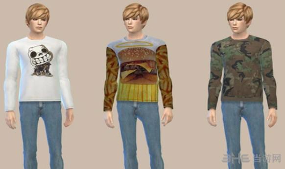 模拟人生4男士休闲风上衣MOD截图2