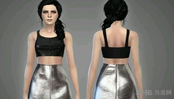 模拟人生4金属质感裙装MOD截图2